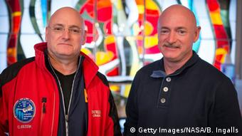 Kasachstan Scott Kelly und Mark Kelly in Baikonur
