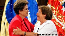 Chile Präsidentin Michelle Bachelet & Dilma Rousseff
