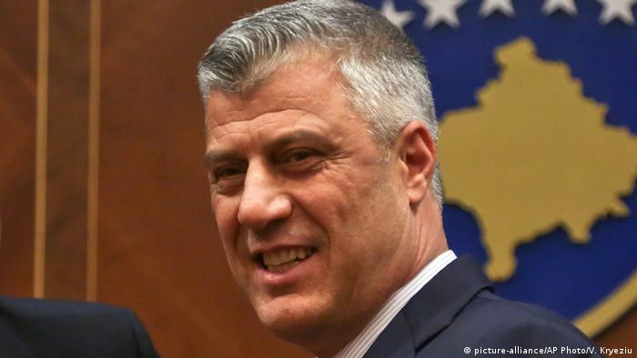 Kosovo Präsident Hashim Thaci (picture-alliance/AP Photo/V. Kryeziu)