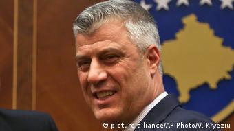 Kosovo Präsident Hashim Thaci (picture-alliance/AP Photo/V. Kryeziu)
