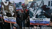 Russland Moskau Gedenkmarsch an Boris Nemzow