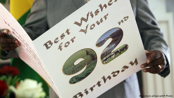 Mugabe birthday card