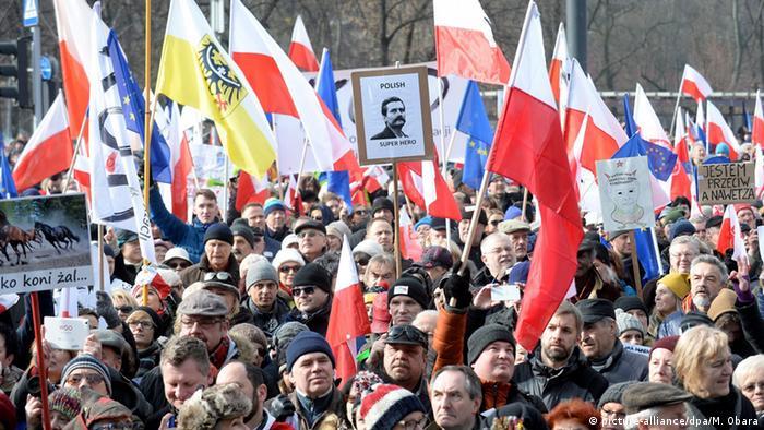 Warschau Anti-Regierungsproteste