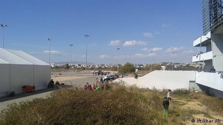 Griechenland pakistanische Migranten Leben in Flüchtlingscamps in Athen