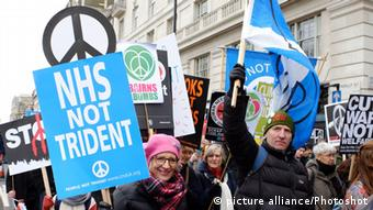 Großbritanien London, UK. Stop Trident March And Rally (picture alliance/Photoshot)
