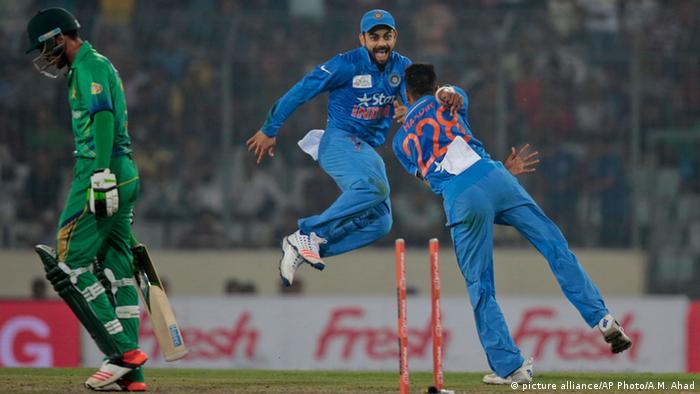 Asien Cup Cricket U 20 Indien gegen Pakistan (picture alliance/AP Photo/A.M. Ahad)