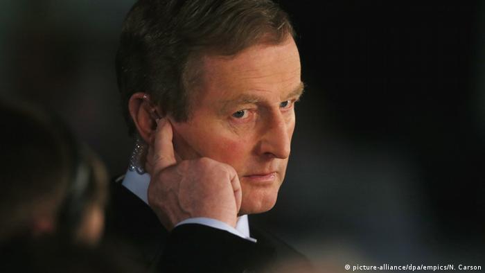 Irland Parlamentswahl - Premierminister Enda Kenny