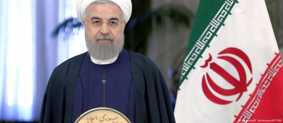 O presidente Hassan Rohani: votação foi interpretada por muitos meios iranianos como um referendo de sua gestão