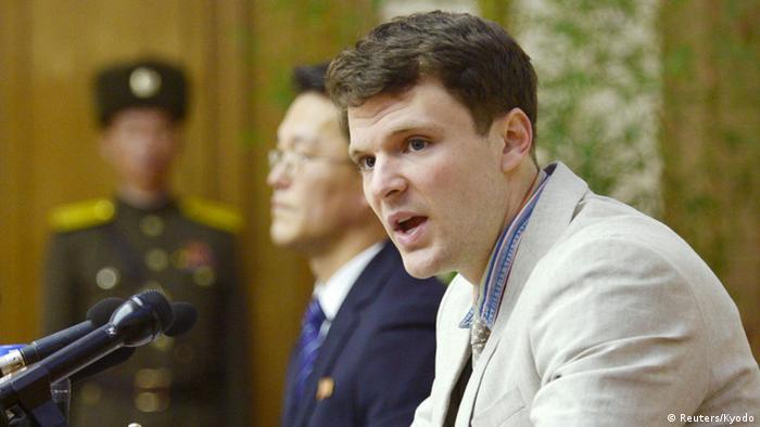 Nordkorea Pressekonferenz Otto Warmbier (Reuters/Kyodo)