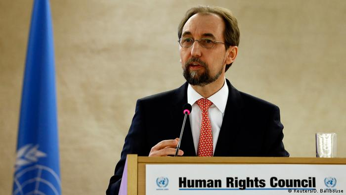 Archive image from February 2016 of Zeid Ra'ad Al Hussein