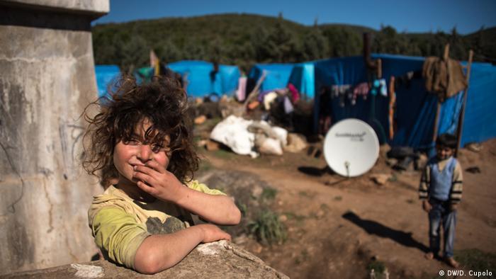 A girl at Torbali farm camp