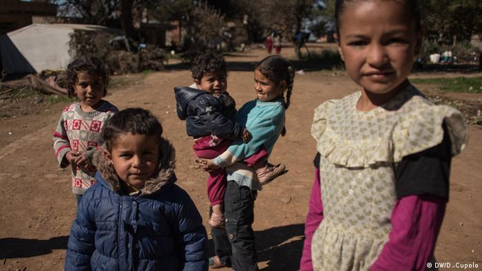 Children at Torbali farm camp