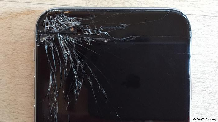 Cracked Screen - broken iPhone display