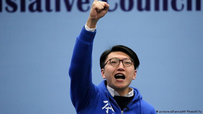 Alvin Yeung Hong Kong Wahlen Gruppenbild (picture-alliance/AP Photo/V.Yu)