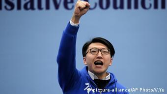 Alvin Yeung Hong Kong Wahlen Gruppenbild
