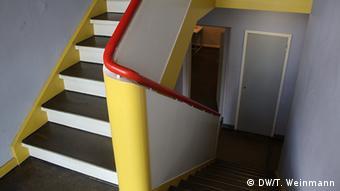 Лестница, ведущая на второй этаж, где было ателье Кандинского