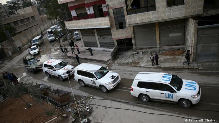 Syrien Hilfskonvoi in Kafr Batna
