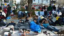 Afghanische Flüchtlinge in Athen Griechenland