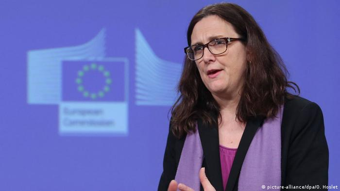 Belgien PK Cecilia Malmström EU Kanada CETA