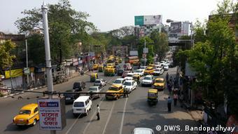 Indien Kalkutta Verkehrsstau