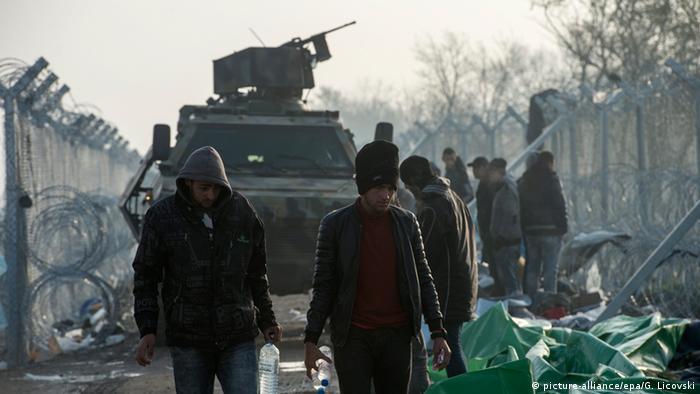 Griechenland Mazedonien Grenze bei Idomeni