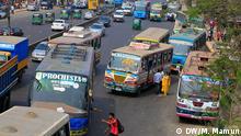 Verkehrschaos in Dhaka. Rechte: Mustafiz Mamun / DW