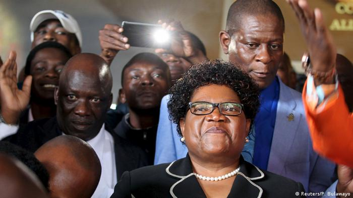 Joice Mujuru at the launch of her party