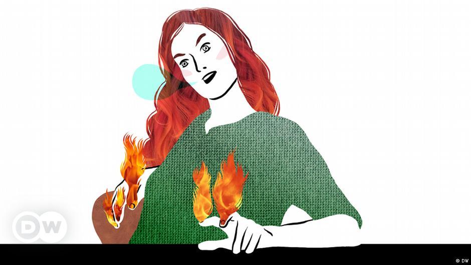 Unter den Fingernägeln brennen