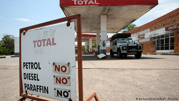 Simbabwe Victoria Falls Tankstelle, ausverkauft