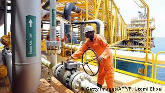The Total oil installation near Port Harcourt