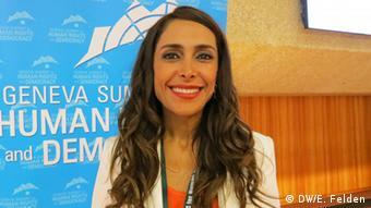 Die iranische Frauenrechtlerin Darya Safai (Foto:DW/E. Felden)
