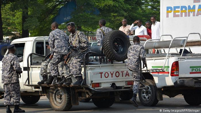 Burundi, Bujumbura, police officers on a truck (Photo: STRINGER/AFP/Getty Images)