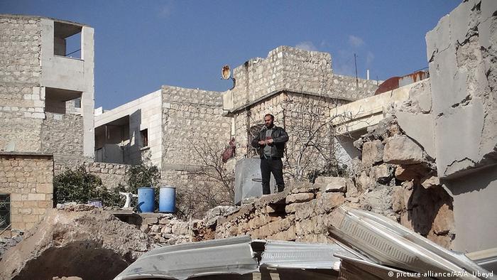Syrien Aleppo Ruinen nach Luftangriff