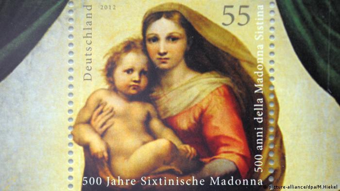 Briefmarke Sixtinische Madonna (picture-alliance/dpa/M.Hiekel)