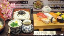 Tourismus in Japan nach Fukushima Speisekarte