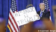 USA Vorwahlen Super Tuesday Trump Hispanics for Trump