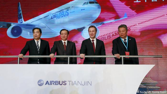 Airbus ground-breaking ceremony in Tianjin, china