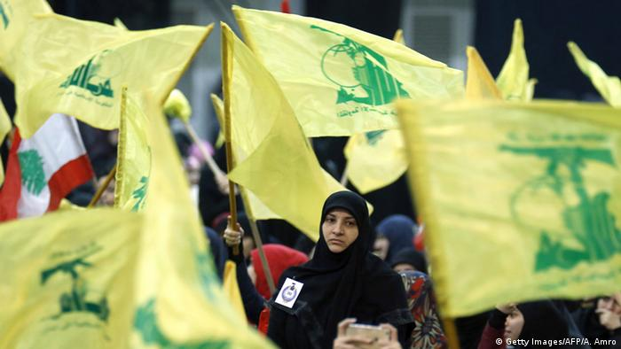 Hisbollah Flagge Libanon (Getty Images/AFP/A. Amro)
