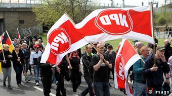 NPD-Demonstration im Mai 2015 in der thüringischen Landeshauptstadt Erfurt