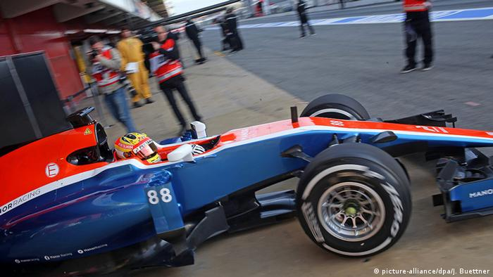 Spanien Barcelona Rio Haryanto im Manor Racing