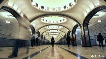 Mayakovskaya station, in the Moscow metro Copyright: P. Anft