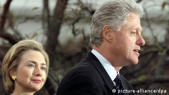 USA Bill und Hillary Clinton Lewinsky Affäre