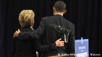 USA Hillary Clinton und Barack Obama PK in Chicago