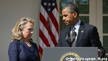 USA Hillary Clinton und Barack Obama PK in Washington