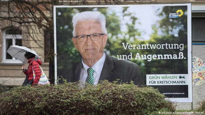 Deutschland Winfried Kretschmann Landtagswahl in Baden-Württemberg
