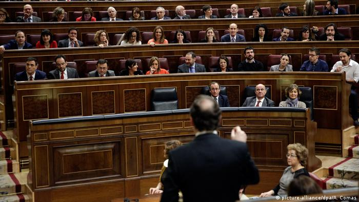 Parlament Madrid Spanien Rede Mariano Rajoy