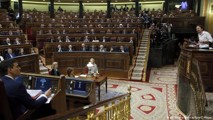 Spanish parliament in Madrid
