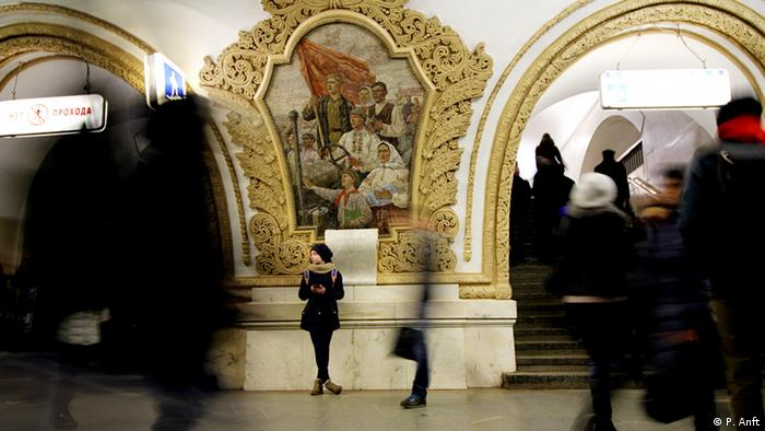 Russland Moskau Metro Station Kiewskaja