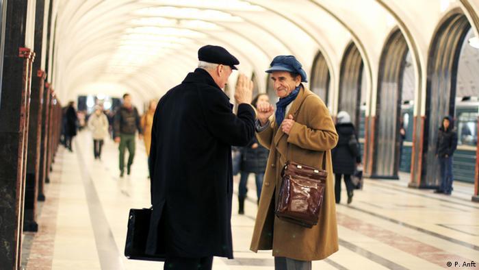 Russland Moskau Metro Station Majakowskaja