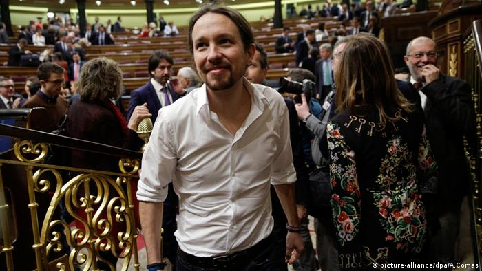 Spanien Parlament Abstimmung Pablo Iglesias